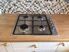 fitted kitchen hob unit