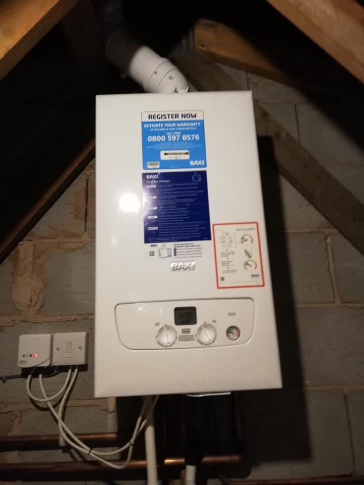 combi boiler fit in loft space stoke on trent