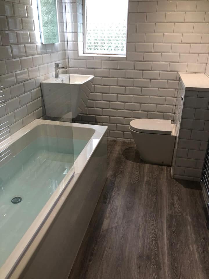 contempory bathroom fit stoke on trent